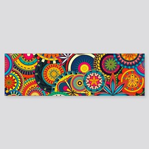 Funky Retro Pattern Bumper Sticker