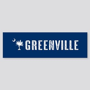 Greenville, South Carolina Sticker (Bumper)