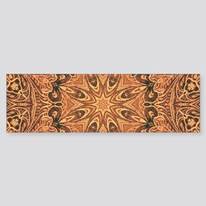 western cowboy tooled leather Bumper Sticker