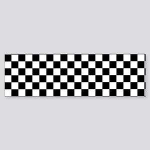 Black White Checkered Bumper Sticker