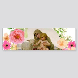 Virgin and Lamb Bumper Sticker