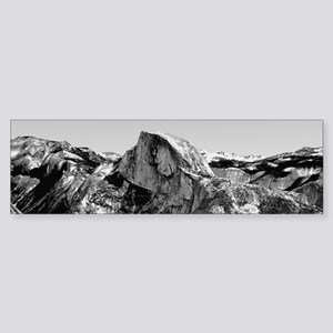 Half Dome Black and White Bumper Sticker