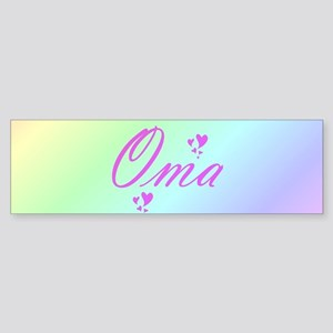 pink oma text Bumper Sticker