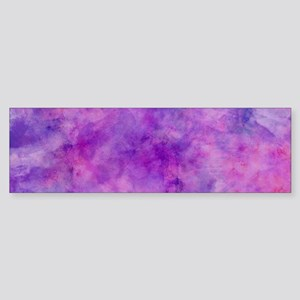 Juicey Purple Watercolor Texture Bumper Sticker