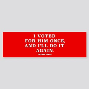 Trump 2020 - Vote For Him Again Sticker (Bumper)