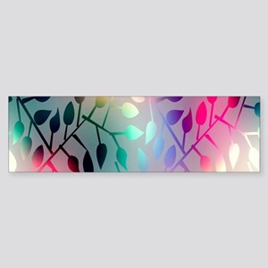 Leaf Rainbow Bumper Sticker