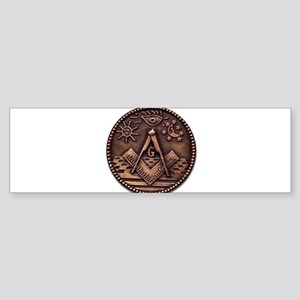 Bronze Freemasonry Sticker (Bumper)