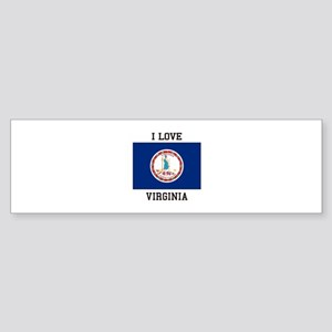 I Love Virginia Bumper Sticker