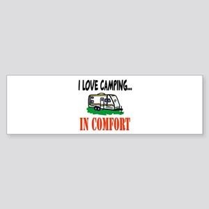 I Love Camping In Comfort Bumper Sticker