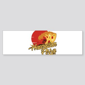 Hawaiian Pizza - Funny Beach Vacati Bumper Sticker