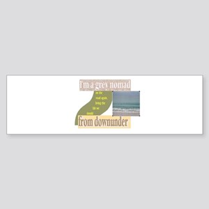 grey nomad on the road again Bumper Sticker