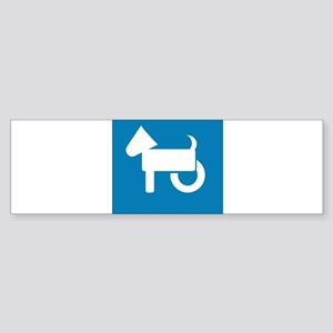 Wheelchair Dog Bumper Sticker