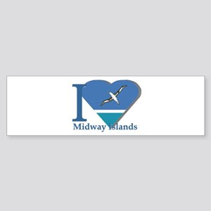 I love Midway Island Bumper Sticker