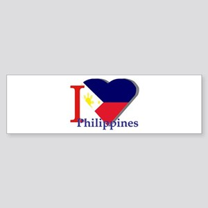 I love Philippines Bumper Sticker