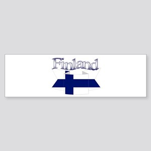 Finlad flag ribbon Bumper Sticker