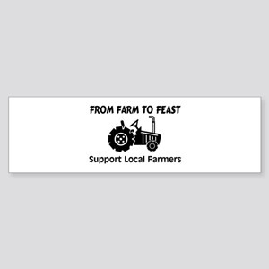 Support Farmers From Farm To Feast Sticker (Bumper