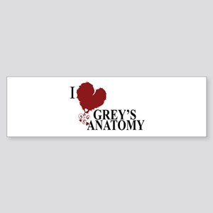 I Love Grey's Anatomy Sticker (Bumper)