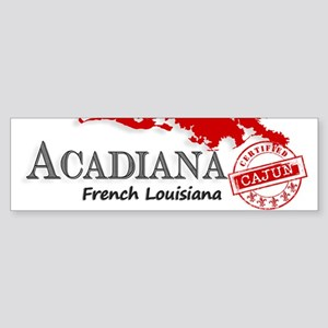 Acadiana French Louisiana Cajun Bumper Sticker