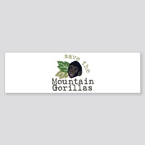 Save The Mountain Gorillas Bumper Sticker
