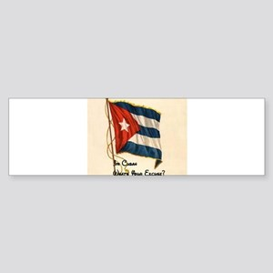 Funny quote about being cuban Sticker (Bumper)