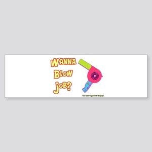 Hairdresser Blow Job Bumper Sticker