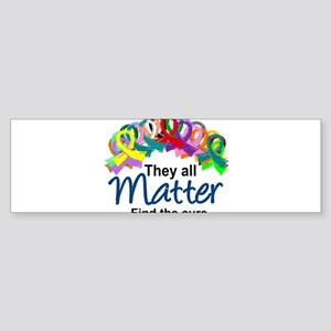 D All Ribbons 7 Bumper Sticker