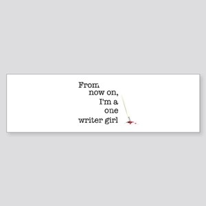 One writer girl Sticker (Bumper)