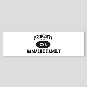 Property of Gamache Family Bumper Sticker