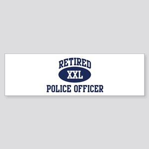 Retired Police Officer Bumper Sticker