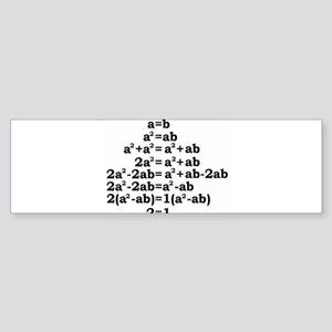 math genius Sticker (Bumper)