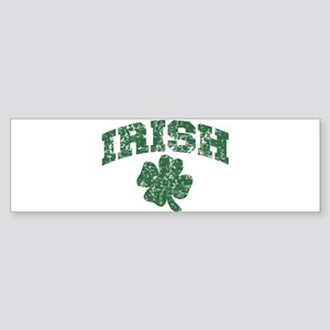 Worn Irish Shamrock Bumper Sticker