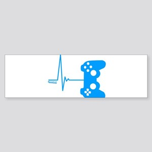 Gamer Heart Beat Bumper Sticker