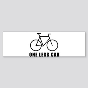 One less car - cycling Bumper Sticker