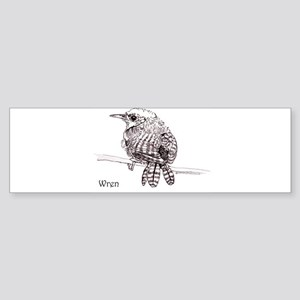 Little Brown Wren Sticker (Bumper)