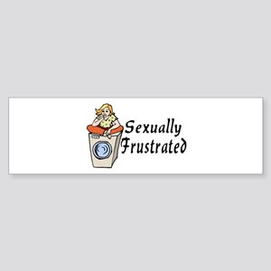 Sexually Frustrated Sticker (Bumper)