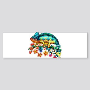 Colorful Camouflage Chameleon Bumper Sticker