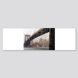 Brooklyn Bridge: Wet Series Bumper Sticker
