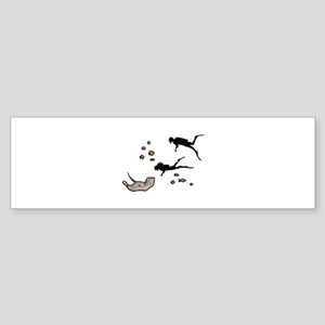 Scuba Divers Bumper Sticker