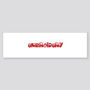 Embroidery Heart Design Bumper Sticker