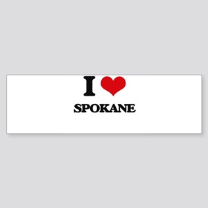 I love Spokane Bumper Sticker