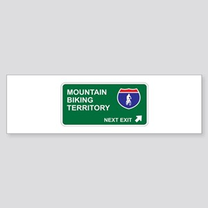 Mountain, Biking Territory Bumper Sticker