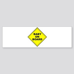 """Baby On Board"" Bumper Sticker"