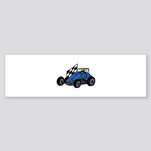 Non-Winged Sprint Car Bumper Sticker