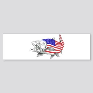 Steel Head American Salmon Bumper Sticker