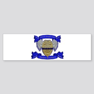 Fallen Police Officer Badge Bumper Sticker