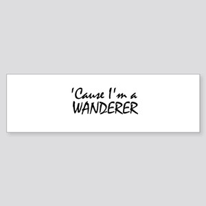 The Wanderer Bumper Sticker