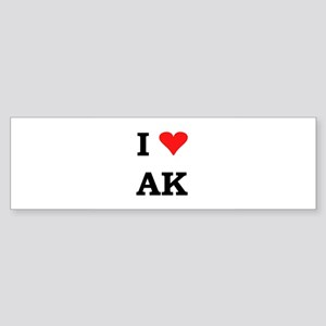 I Heart Alaska Bumper Sticker