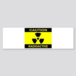 Caution Radioactive Bumper Sticker