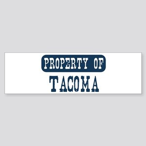 Property of Tacoma Bumper Sticker
