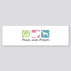 Peace, Love, Pointers Sticker (Bumper)